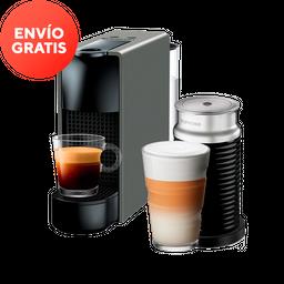 Cafetera Nespresso Essenza Mini y Aerocciono, Color Gris