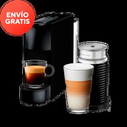 Cafetera Nespresso Essenza Mini y Aerocciono, Color Negra