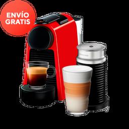 Cafetera Nespresso Essenza Mini y Aerocciono, Color Rojo