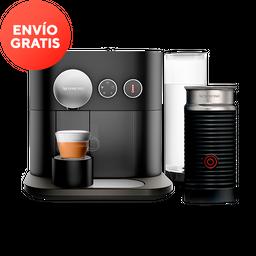 Cafetera Nespresso Expert y Aeroccino, Color Negra