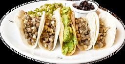 Tacos de Arrachera y Champiñones