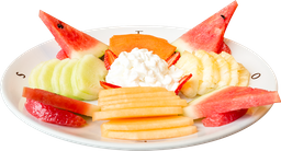 Plato de Frutas con Queso Cottage