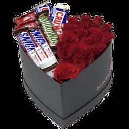 Rosa Roja Y Chocolates Mixtos