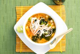 Sopa de Mariscos con Udon