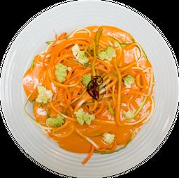 Spaghetti de calabacitas y zanahorias