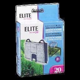 Hagen - Carbón (2) para Filtro Elite 20