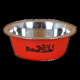 Pelu2 - Tazón de acero colores para perros y gatos 450 ml