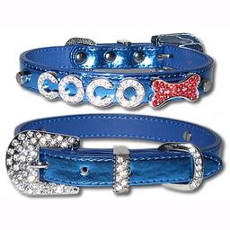 Collar My Dog's Boutique Diamante Azul 1 U