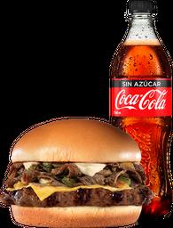 Chilly CheeseBurger 1.2 Lb  + Coca Cola Sin Azúcar PET