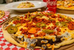 Pizza Grande Ranchera + 2 cervezas Coronita