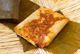 Tamal de Salsa Jitomate con Pollo