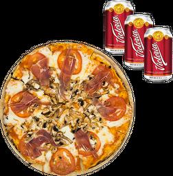 Pizza Americana + Pack de cervezas