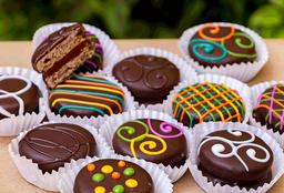 Alfajor de chocolate oscuro