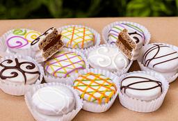 Alfajor de chocolate blanco