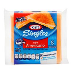 Queso Americano Singles 144 Grs