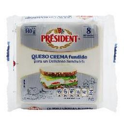Queso Crema Rebanadas 140 Grs
