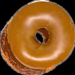 Dona de cobertura de Maple rellena de Nutella
