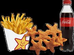 Envío Gratis 💫6 Chicken Stars +  Papas + Refresco Coca-Cola