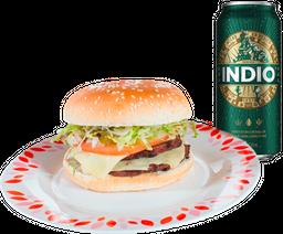 🍔 3 Hamburguesas + Latón de Cerveza GRATIS