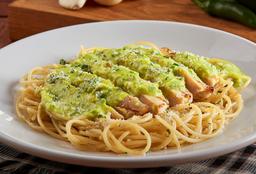 Pollo Parmigiana con spaguetti
