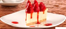 Cheesecake con Fresas Entero
