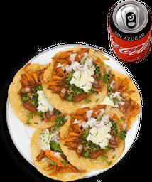 5 Tacos de Pastor + Coca Cola sin Azúcar