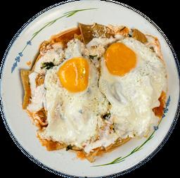 Chilaquiles Verdes con Huevo