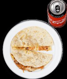 Gringa de Pastor + Coca Cola Sin Azúcar
