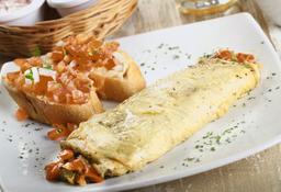 Omelette Ratatouille Queso