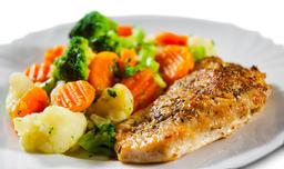 Pechuga al Grill con Verduras