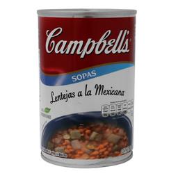 Campbells Sopa de Lentejas a La Mexicana