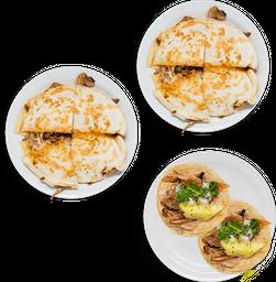 2 Gringas + 2 Tacos de Pastor
