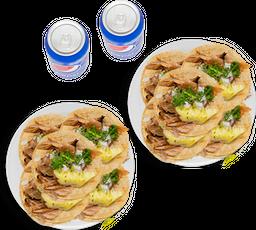 10 Tacos de Pastor + 2 Refrescos