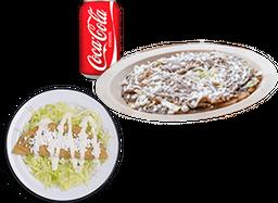 Sope de Bistec + Quesadilla de Queso + Refresco Coca-Cola