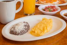 Omelette Jamón con Queso Manchego