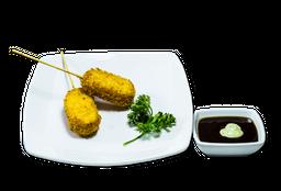 Kushiage de Plátano y Queso Manchego