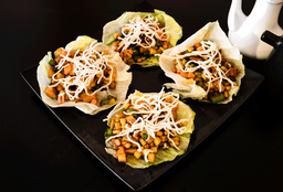 Tacos de lechuga vegetales (4 pzas)