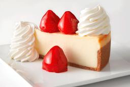 """Fresh Strawberry 7"""" Cheesecake"""