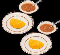 Salchipapas + 2 Empanadas Gratis
