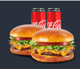 🍔 Paquete 2: 2 Hamburguesas La Clásica + 2 Coca-Cola