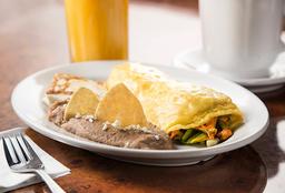 Omelette con Pavo