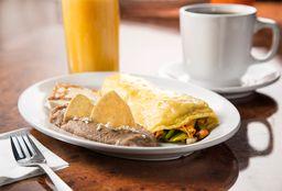 Omelette dee Flor de Calabaza