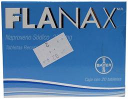 Bayer Flanax 275mg 20 Tableta(s) Caja Naproxeno 275 mg