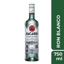 Ron Bacardi Carta Blanca 750 mL