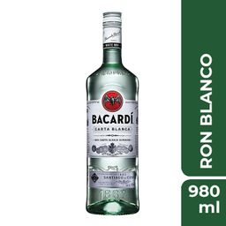 Ron Bacardi Carta Blanca 980 mL