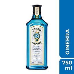 2 u Ginebra Bombay Sapphire 750 mL