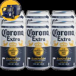 Corona Cerveza Extra Lata