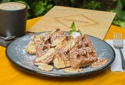 Waffle de Nutella y Plátano