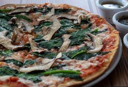 Pizza de Champiñón con Espinaca
