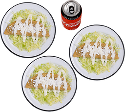 3 Quesadillas de Queso + Refresco Coca-Cola